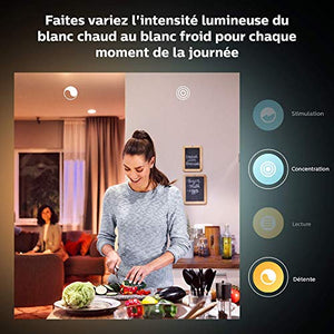 Philips Hue Ampoule LED Connectée White & Color Ambiance GU10 Compatible Bluetooth  Fonctionne avec Alexa
