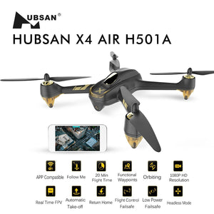 Hubsan X4 Air Pro Drones quadrirotors GPS Appareil Photo 1080P App (h501a + ht011a)  Couleur