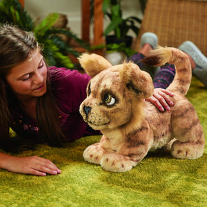 Furreal Friends - Peluche Interactive - Simba Rugissant - Disney : Le Roi Lion - Version Française