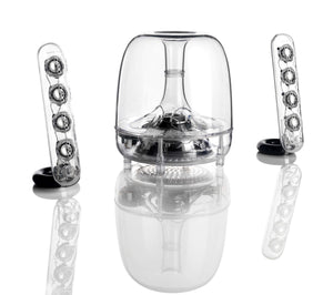 Harman Kardon Soundsticks II - Enceinte sans Fil Bluetooth 2.1 - Transparent