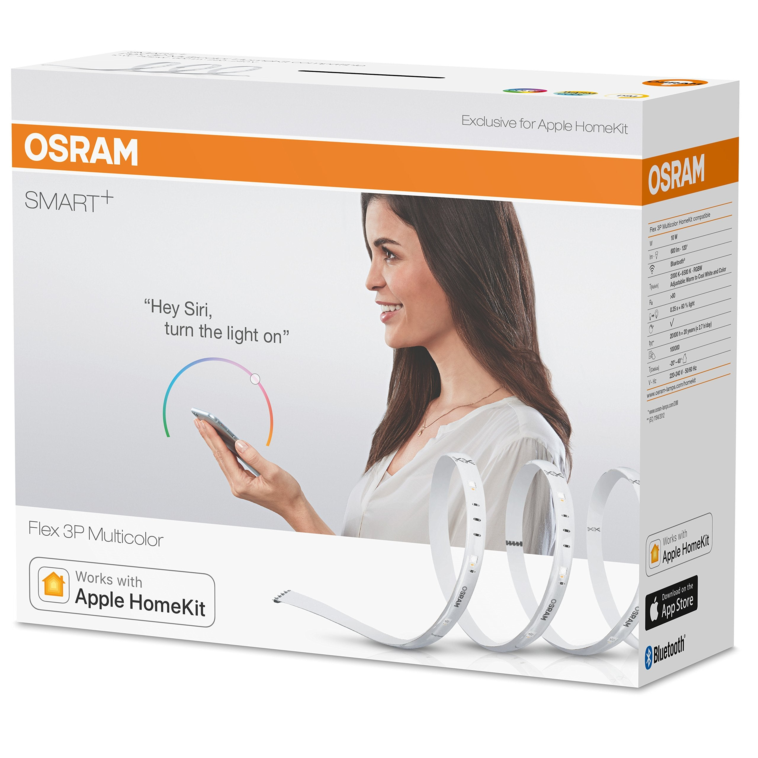 OSRAM Smart+ Lot de 4 Rubans LED Connectés | 1 8m | Dimmable | 16 Millions de couleurs | 10W | Bluetooth - Compatible Siri sur Apple & Alexa sur Andr