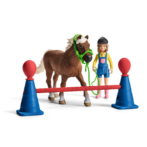 Schleich Farm World Playset Entraînement dagility pour Poney  42481  Multicolore