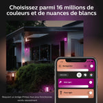 Philips Hue White and Color Ambiance Kit de base à LED Impress à intensité variable jusquà 16 millions de couleurs  Noir
