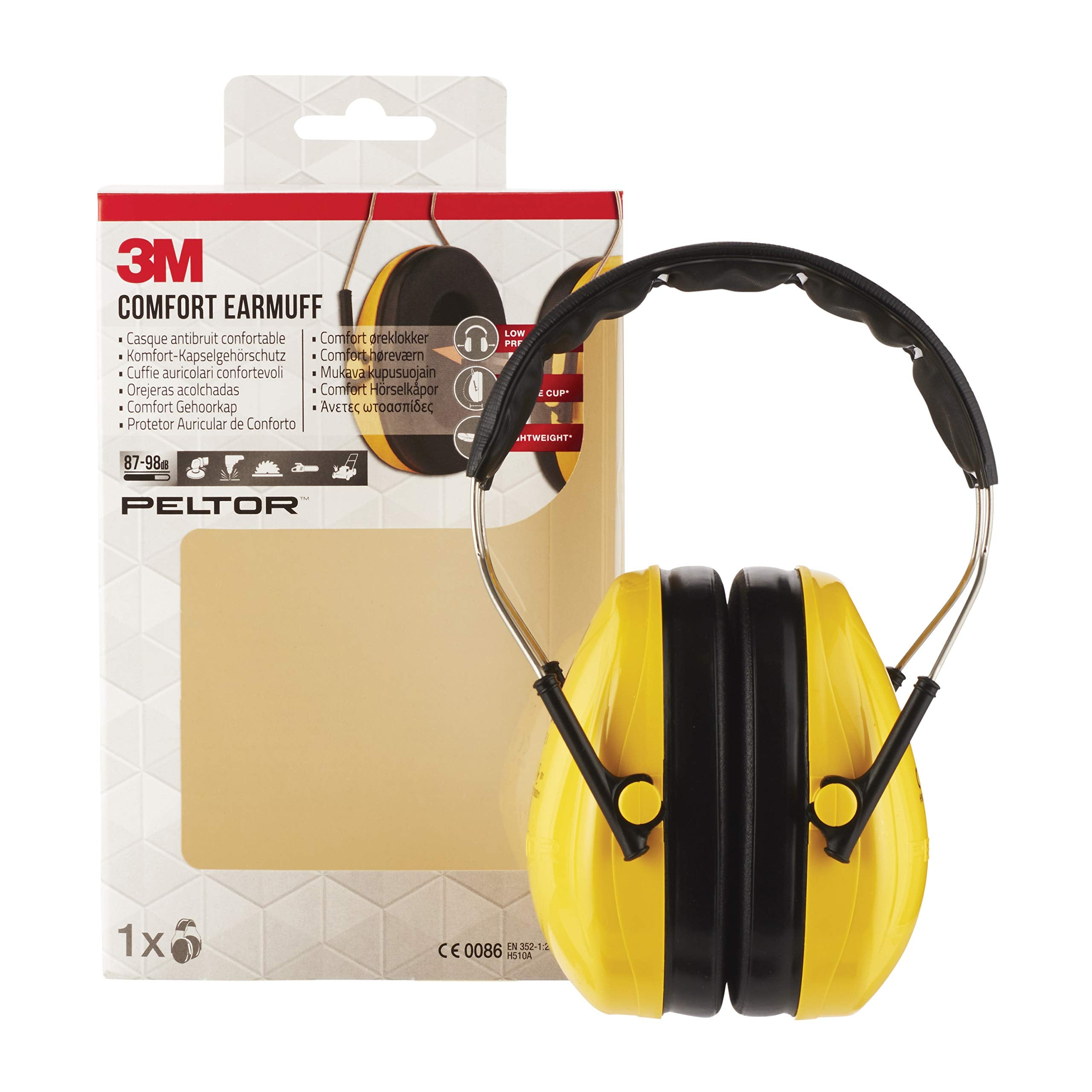 3M H510AC Casque de protection auditive de confort Jaune