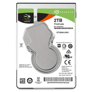 Seagate Firecuda ST2000LXZ01/LX001 Compute SSHD 2 5 Interne  SSD Hybride pour PC et PS4  2 To