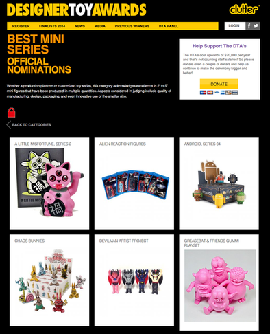 2014 Designer Toy Awards Best Mini Series Nomination