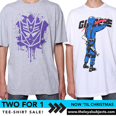TWO FOR ONE T-SHIRTS!