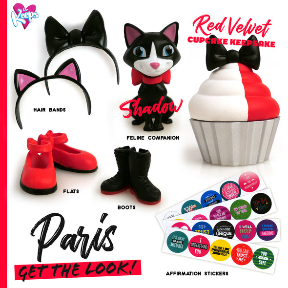 Paris - For Keeps™ Girl with Cupcake Keepsake™ Series 1
