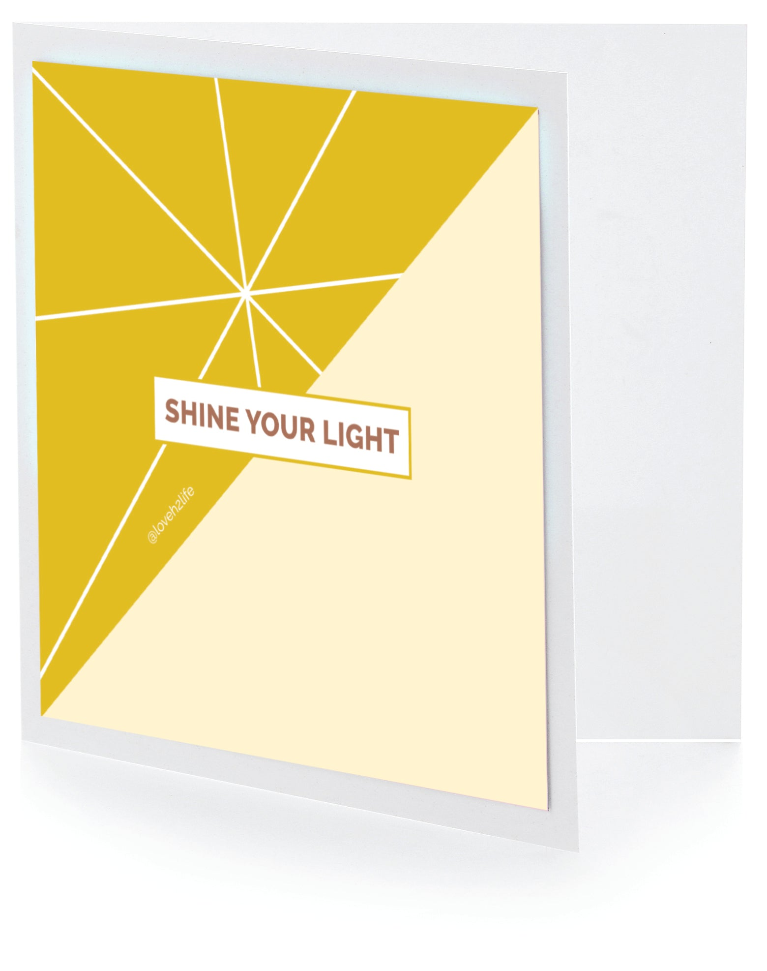 Shine Your Light Sticker Greeting Cards