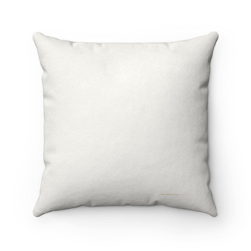 Shine Your Light Faux Suede Square Pillow