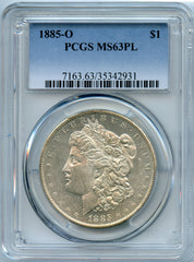 1885-O PCGS MS63 PL Morgan Silver $1