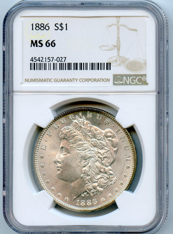 1886 NGC MS66 Morgan Silver $1