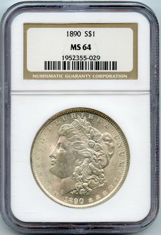 1890 NGC MS64 Morgan Silver $1