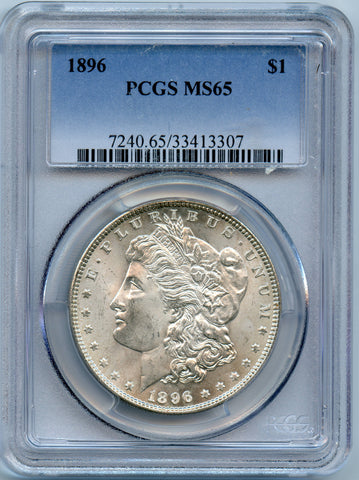 1896 PCGS MS65 Morgan Silver $1