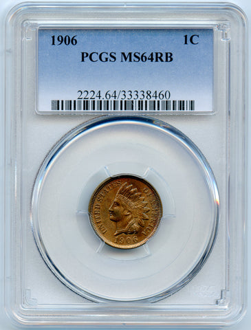 1906 PCGS MS64RB Indian Head 1c, Nice & Original!