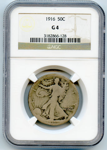 1916 NGC G4 Walking Liberty 50c