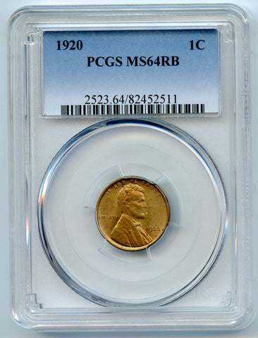 1920 PCGS MS64RB Lincoln 1c