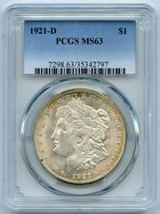 1921-D PCGS MS63 Morgan Silver $1