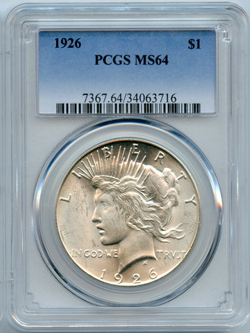 1926 PCGS MS64 Silver Peace $1