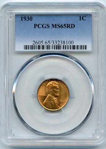 1930 PCGS MS65RD Lincoln 1c
