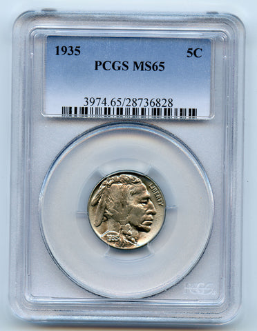 1935 5c PCGS MS65, Great Luster!