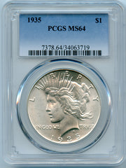 1935 PCGS MS64 Silver Peace $1