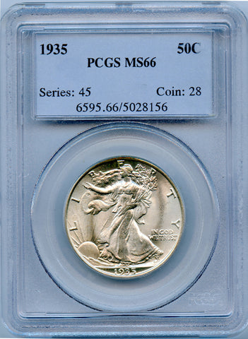 1935 PCGS MS66 Walking Liberty Silver 50c