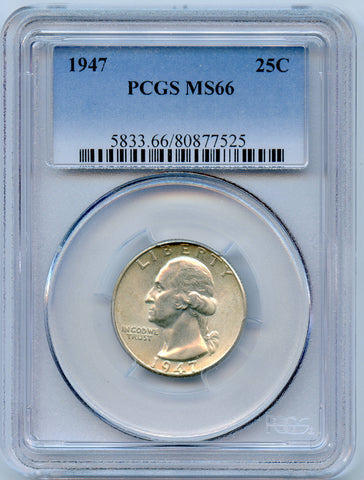1947-P PCGS MS66 Silver Washington 25c