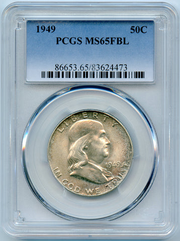 1949 PCGS MS65 Full Bell Lines Silver Franklin 50c