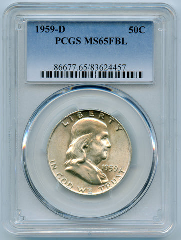 1959-D PCGS MS65 Full Bell Lines Franklin 50c