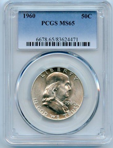 1960 PCGS MS65 Silver Franklin 50c