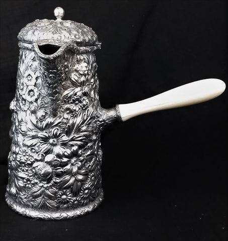 """Repousse"" by Gorham Estate Sterling Silver Hot Chocolate Server"