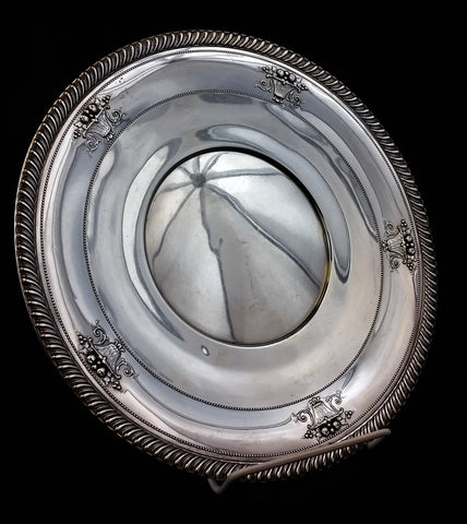 "Estate 10"" Sterling Silver Plate by M. Fred Hirsch Co."