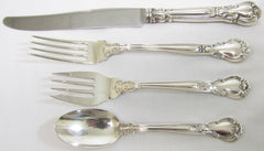 "4 Pc. ""Chantilly"" Sterling place setting by Gorham. Patented 1895"