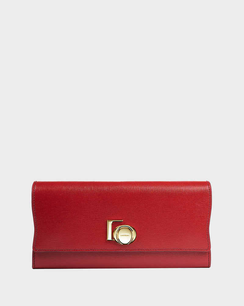 Continental Wallet Purple Red
