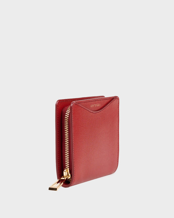 Zip Around Small Wallet Purple Red