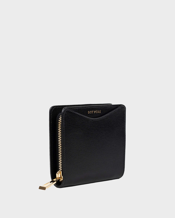 Zip Around Small Wallet Schwarz Black