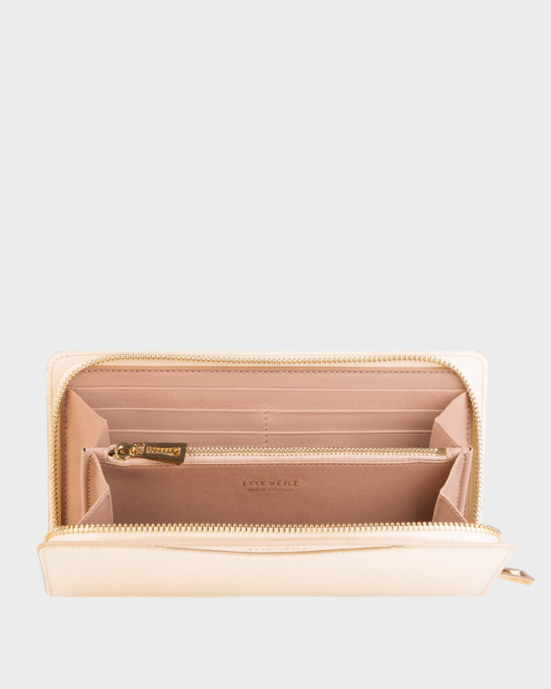 Zip Around Wallet White Parchment