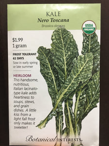 Seed Packet Kale Nero Toscana