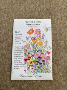 Seed Packet Fairy Meadow Flower Mix