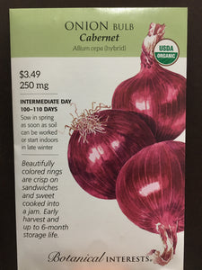 Seed Packet Onion Cabernet