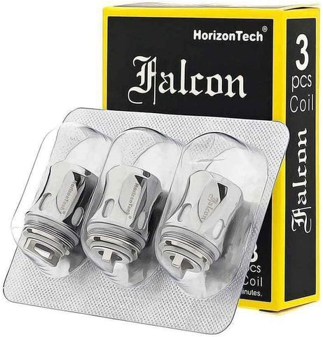 The HorizonTech Falcon replacement coils have been designed for use with the HorizonTech Falcon Vape Tank. Designed for sub ohm vaping, these replacement coils feature unique wicking materials that allow for greater flavour and extended lifespan. These coils should be used with e-liquids above 60% VG.