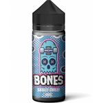 Skully Chilly shortfill e-liquid by Bones (Wick Liquor) features a candy flavour with a cool kick. A combination of jawbreaker bubblegum and blackcurrant syrup creates a sweet inhale, softened on exhale by a layer of cool menthol.