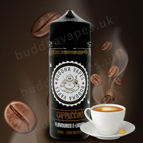 Fancy a Cappuccino? we challenge you to try our Cappuccino Flavor e-liquid! It's smooth, delicate and expels and alluring aroma which takes you back to the true taste of freshly ground coffee beans.  Primary Flavours: Cappuccino  VG/PG: 80/20  Size: 100ml + 2x10ml bottles of 18mg Nic Shots included with each bottle you order.  Country: UK  Please Note: This e-liquid is provided in a 120ml bottle with 100ml of e-liquid, allowing you to add 2x10ml of 18mg Nicotine Shots (if required) to make it 3mg.