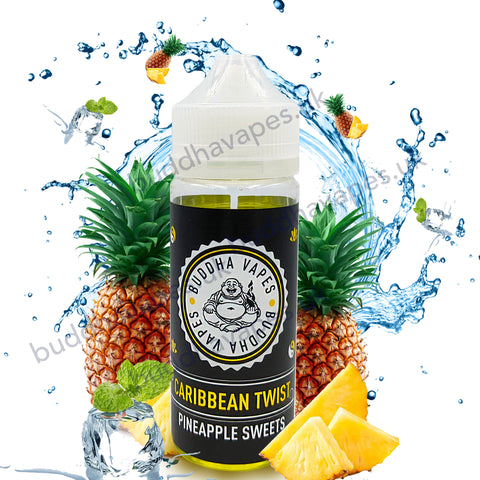 Caribbean Twist E-Liquid by Buddha Vapes  is a flavour full of your favourite pineapple sweets.