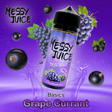 Grape Currant E-Liquid by Messy Juice is a fruity mess of grapes & blackcurrant providing a flavour that is reminiscent of a summertime drink that can easily be your all day vape.