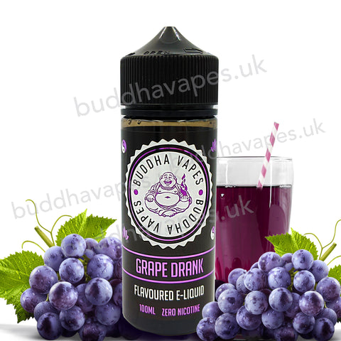 Grape Drank E-Liquid by Buddha Vapes is a mixed fruit and grape drink with an unforgettable cooling exhale.