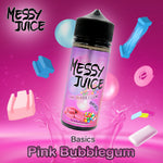 Pink Bubblegum E-Liquid by Messy Juice is a fruity blast that will surely bring back your childhood. The flavour is so good you'll be chewing your clouds.