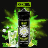 Mojito Madness e-liquid by the new Buddha Vapes Series Reborn. Taste of mojito's inside!.  Primary Flavours: Mojito.  VG/PG: 80/20  Size: 100ml + 2x10ml bottles of 18mg Nic Shots included with each bottle you order.  Country: UK  Please Note: This e-liquid is provided in a 120ml bottle with 100ml of e-liquid, allowing you to add 2x10ml of 18mg Nicotine Shots (if required) to make it 3mg.