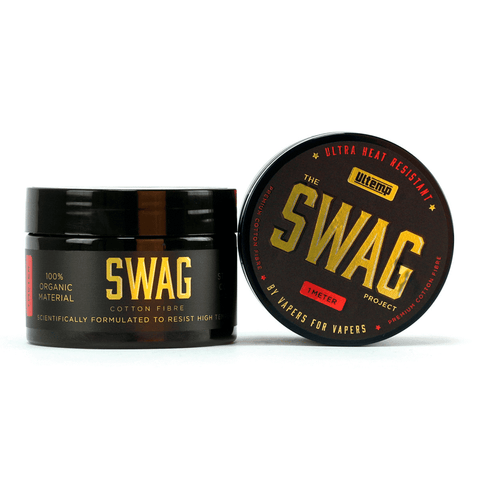 Swags Ultra Heat Resistant Cotton is just about the cleanest, best tasting organic cotton on the market for use with vaping. Made by vapers for vapers, this cotton is scientifically formulated to handle ultra high temperatures.